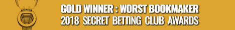 Worst Bookmaker Gold Award - Smart Betting Club